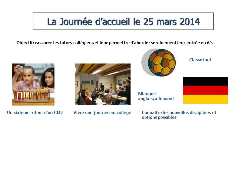 La Journée d'accueil le 25 mars 2014