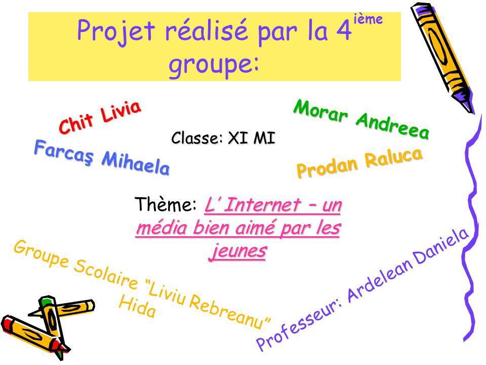 Projet réalisé par la 4 groupe: