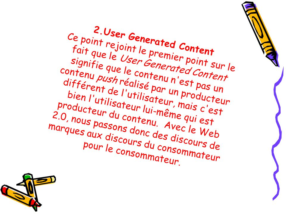 2.User Generated Content
