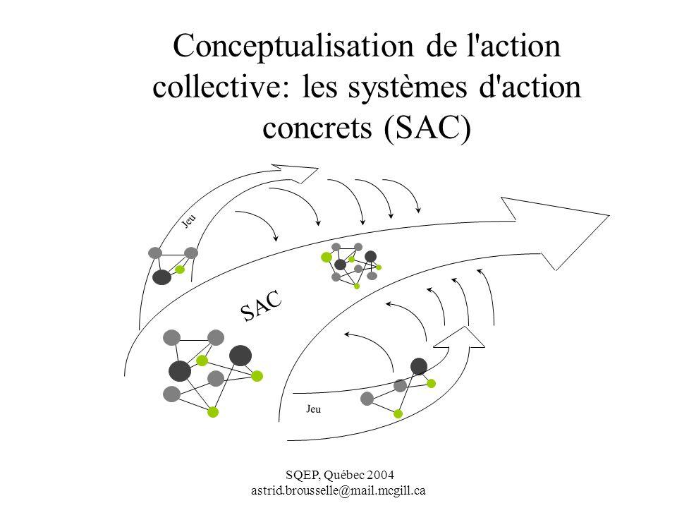 Conceptualisation de l action collective: les systèmes d action concrets (SAC)