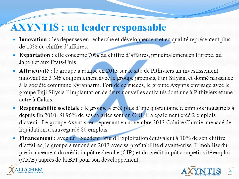 AXYNTIS : un leader responsable