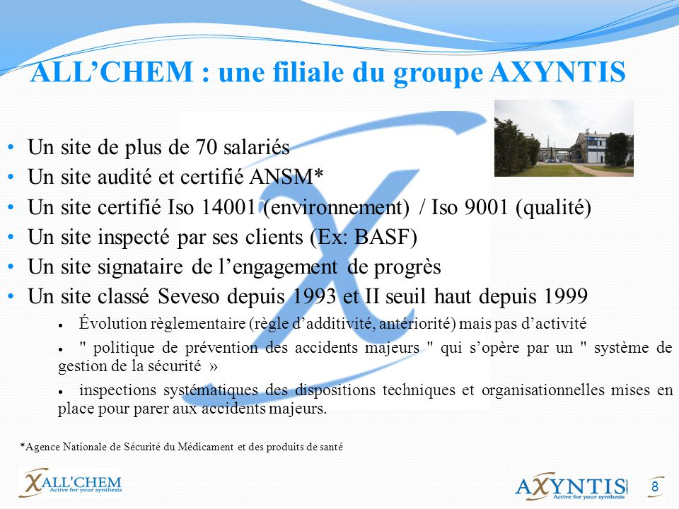 ALL'CHEM : une filiale du groupe AXYNTIS