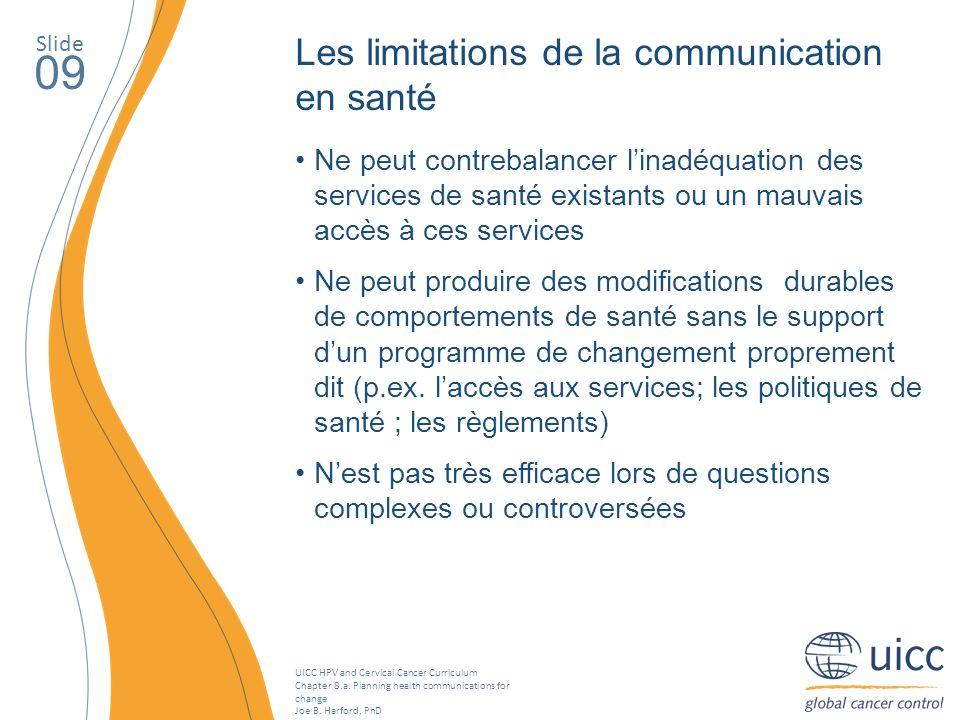 09 Les limitations de la communication en santé