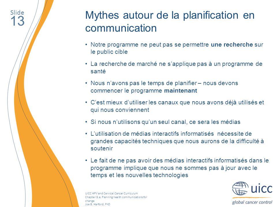 13 Mythes autour de la planification en communication Slide