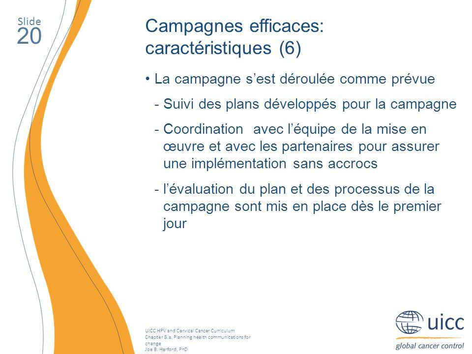 20 Campagnes efficaces: caractéristiques (6)