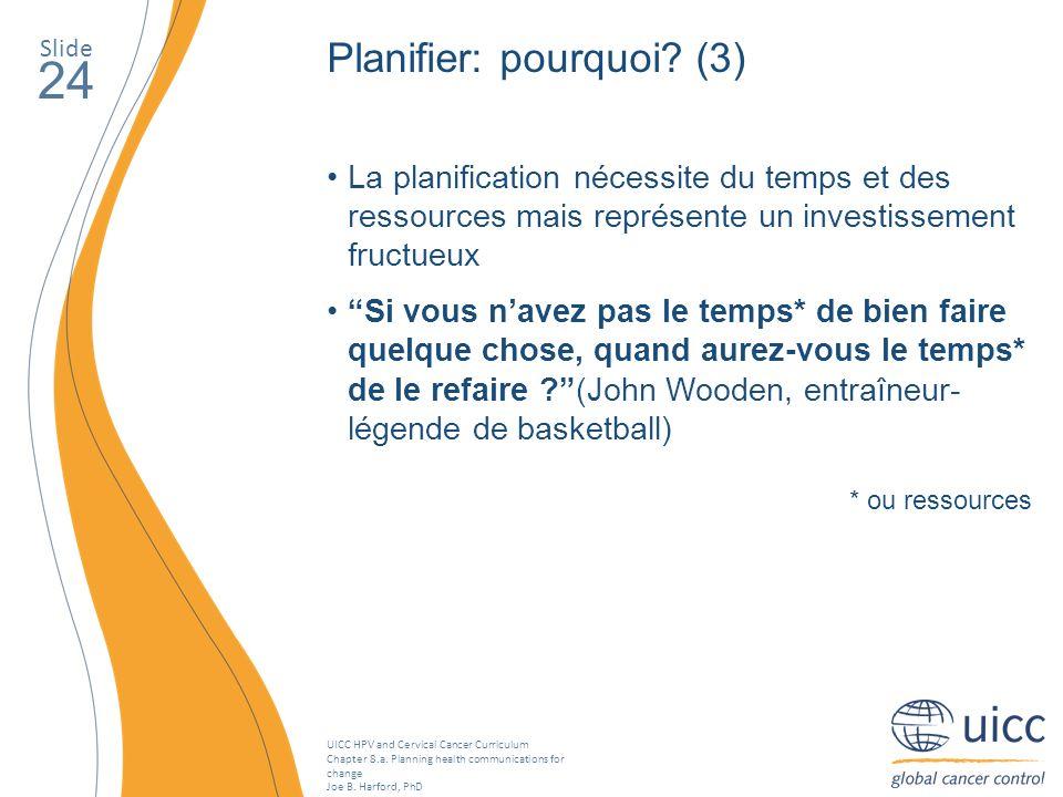 24 Planifier: pourquoi (3)