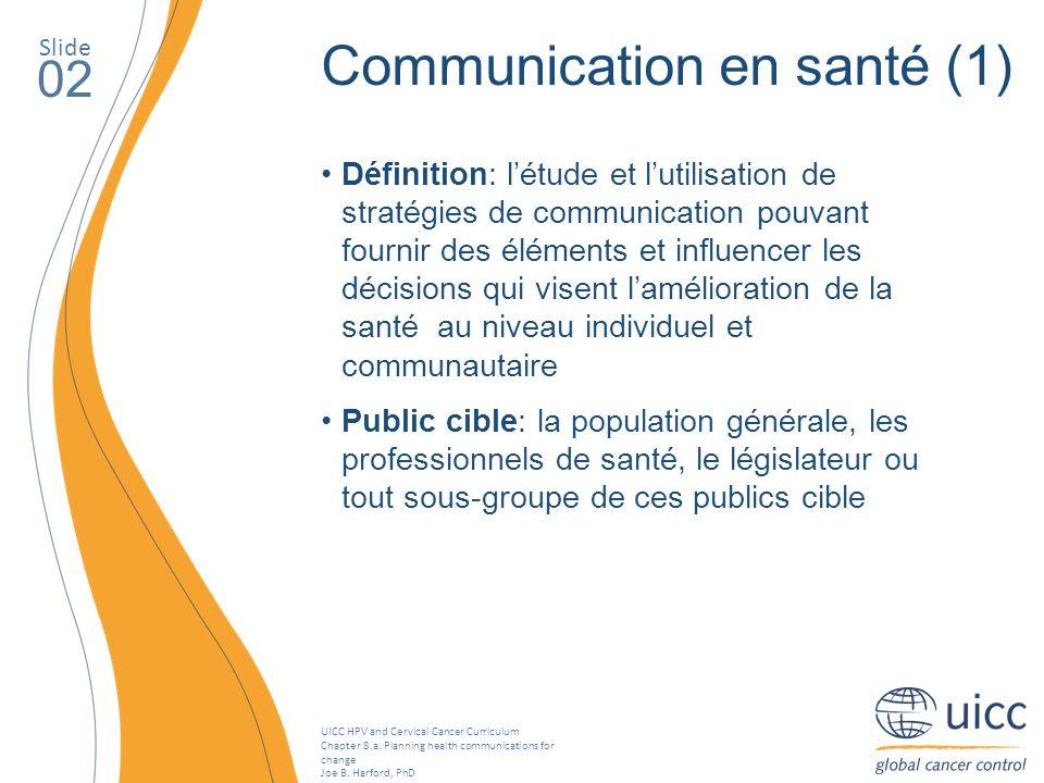 Communication en santé (1)