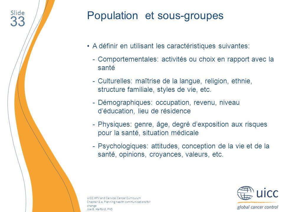 33 Population et sous-groupes Slide