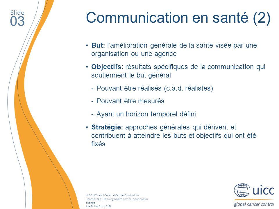 Communication en santé (2)