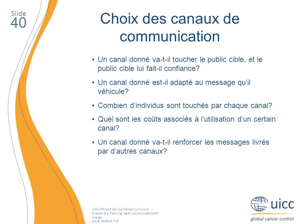 Choix des canaux de communication