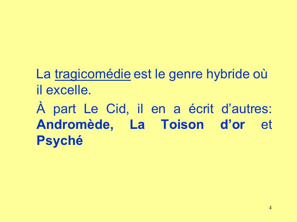 La tragicomédie est le genre hybride où il excelle.