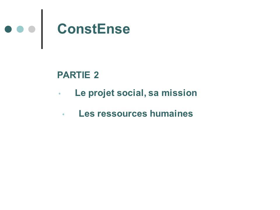 Le projet social, sa mission Les ressources humaines