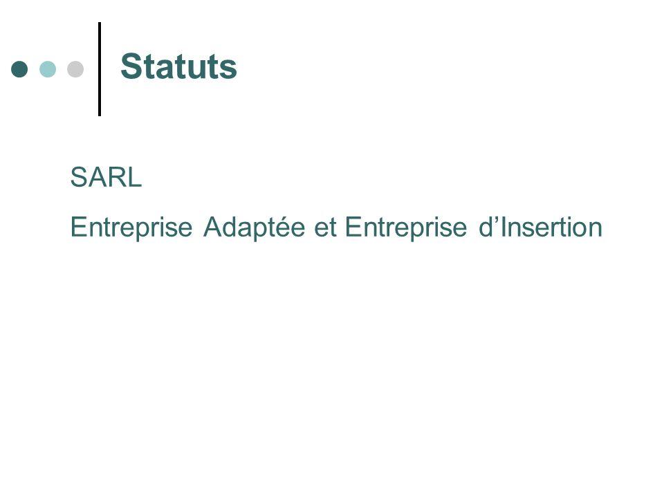 Statuts SARL Entreprise Adaptée et Entreprise d'Insertion