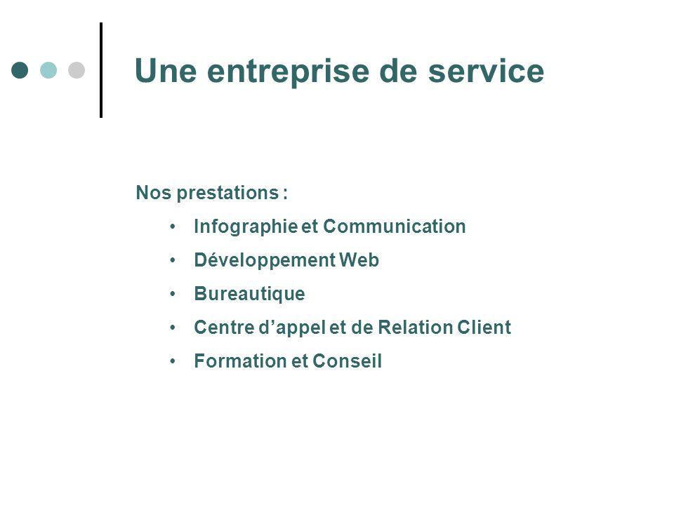Une entreprise de service