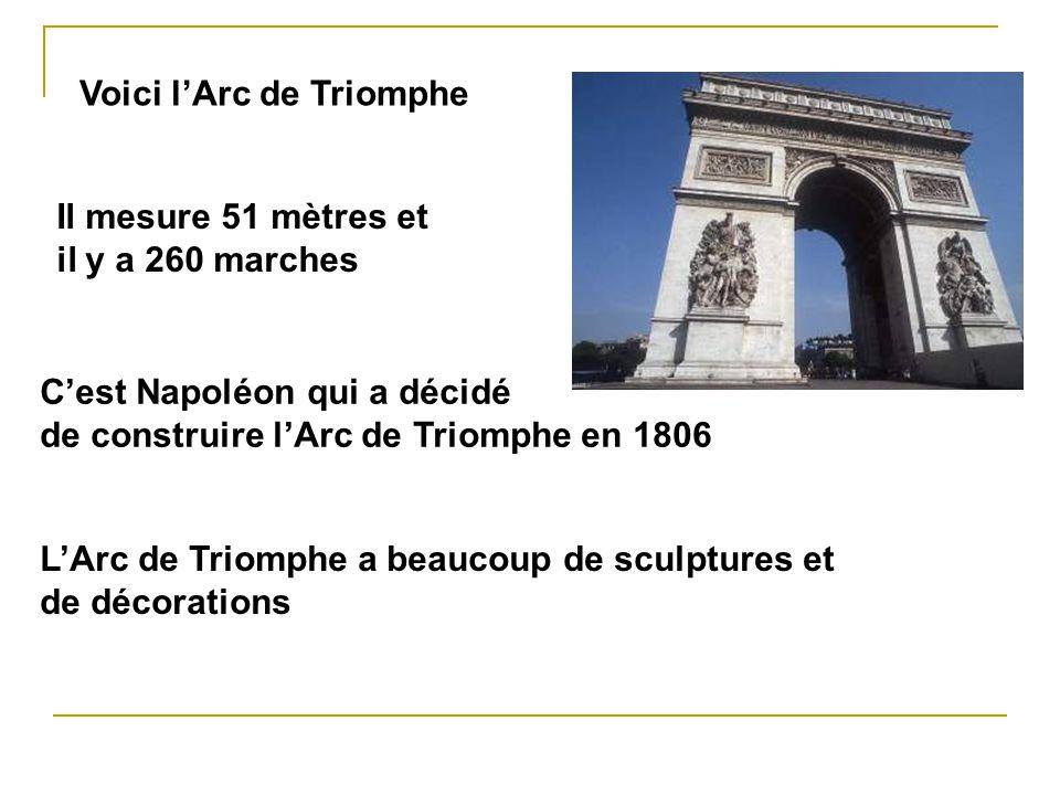 Voici l'Arc de Triomphe