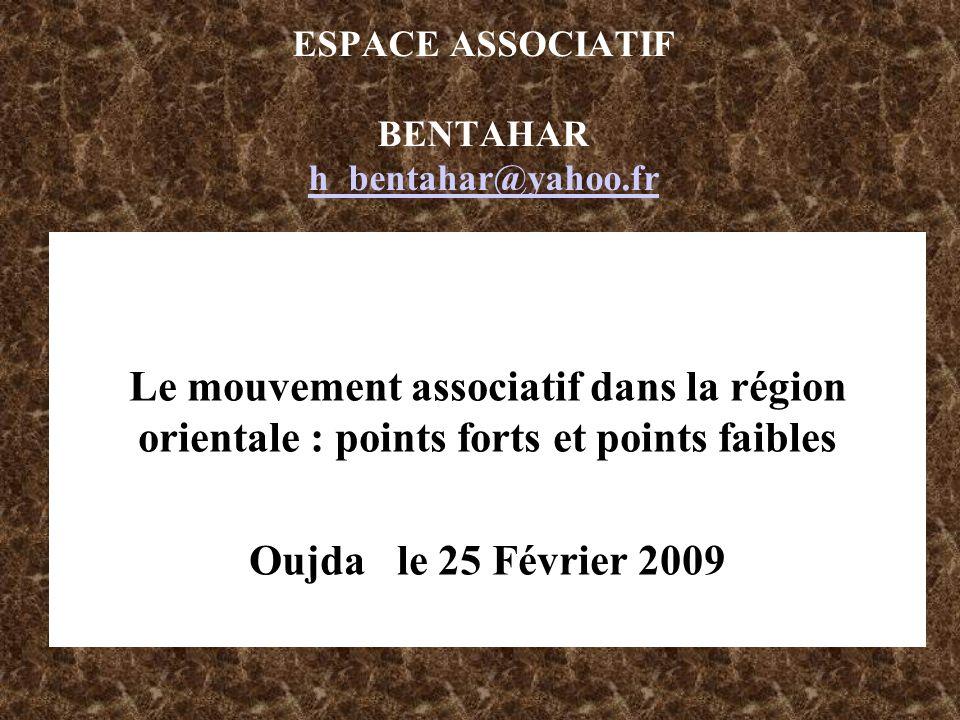 ESPACE ASSOCIATIF BENTAHAR h_bentahar@yahoo.fr
