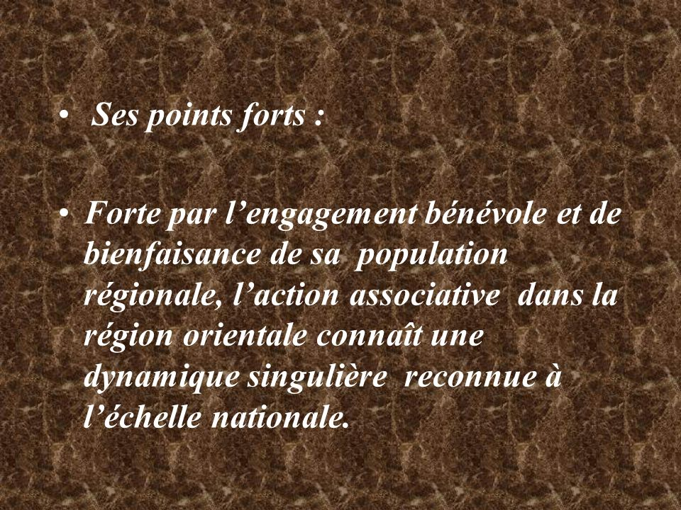 Ses points forts :