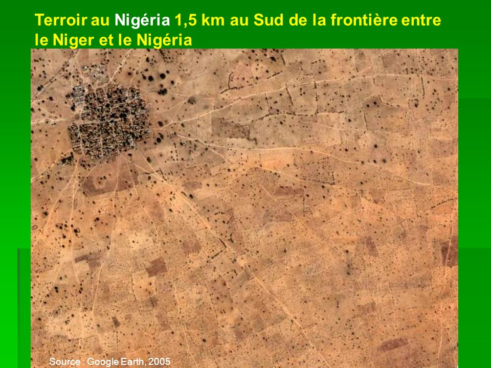Terroir au Nigéria 1,5 km au Sud de la frontière entre