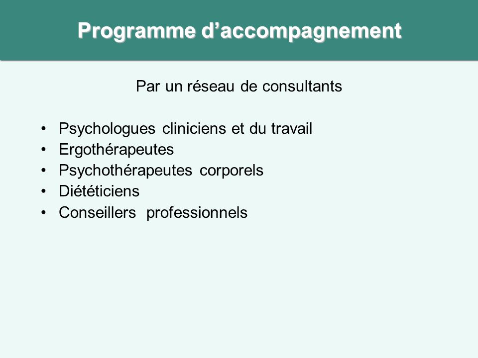 Programme d'accompagnement