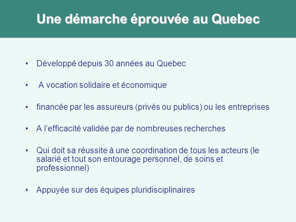 Une démarche éprouvée au Quebec