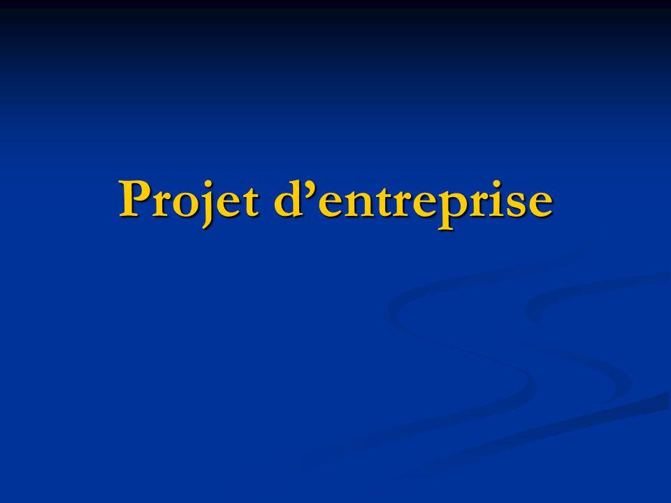 Projet d'entreprise