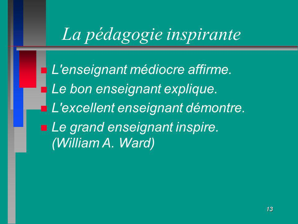 La pédagogie inspirante