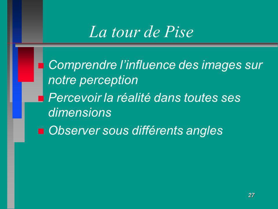 La tour de Pise Comprendre l'influence des images sur notre perception