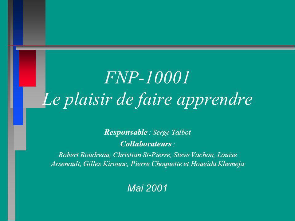 FNP-10001 Le plaisir de faire apprendre