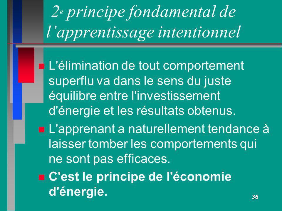 2e principe fondamental de l'apprentissage intentionnel