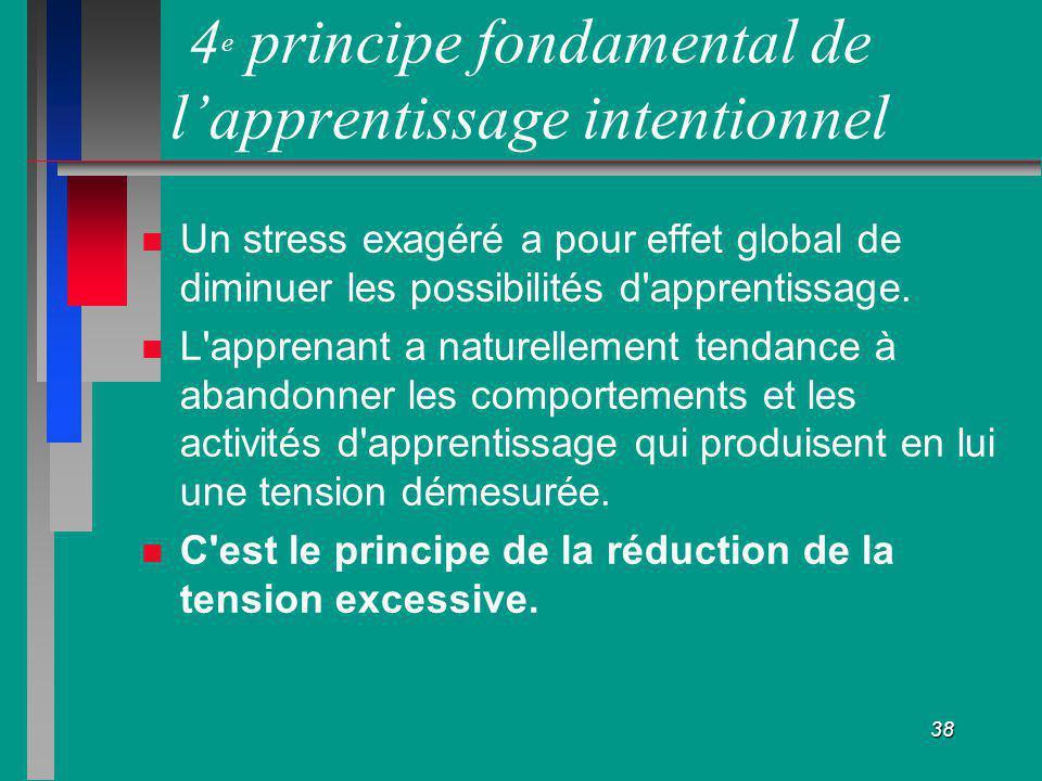 4e principe fondamental de l'apprentissage intentionnel