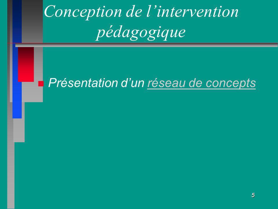 Conception de l'intervention pédagogique