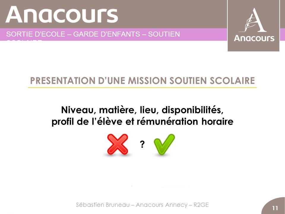 PRESENTATION D'UNE MISSION SOUTIEN SCOLAIRE