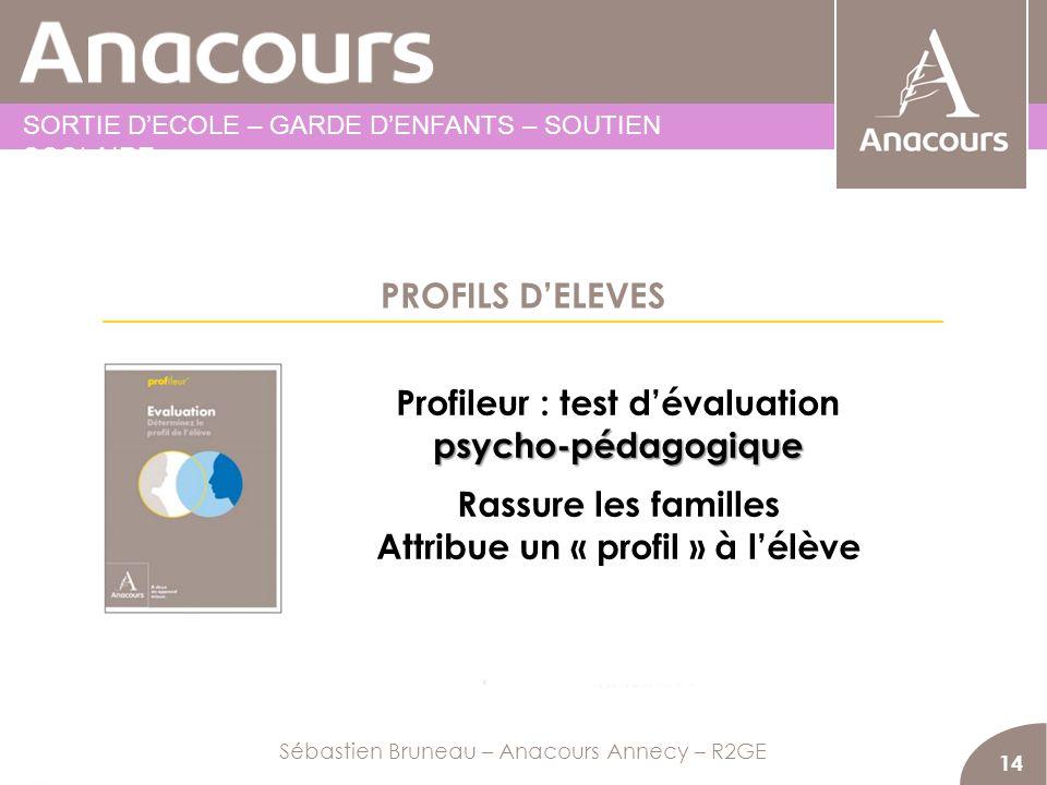 Profileur : test d'évaluation Attribue un « profil » à l'élève