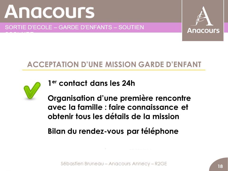 ACCEPTATION D'UNE MISSION GARDE D'ENFANT