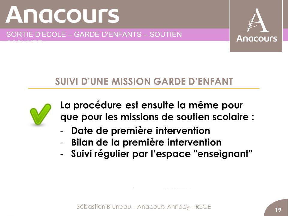 SUIVI D'UNE MISSION GARDE D'ENFANT