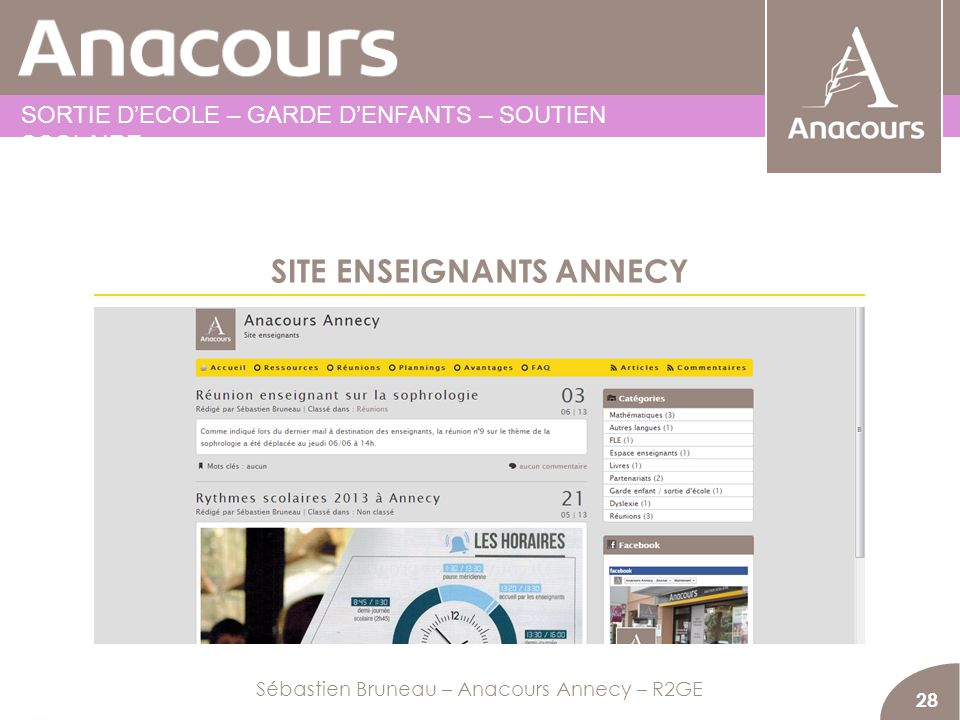 SITE ENSEIGNANTS ANNECY