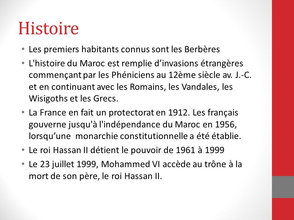 Histoire Les premiers habitants connus sont les Berbères