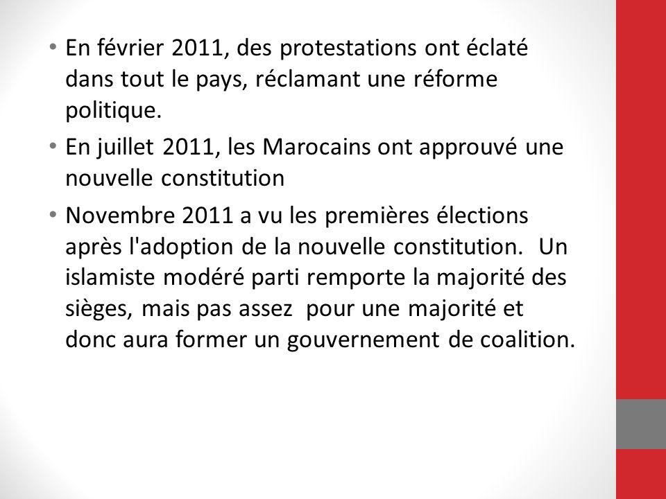 En juillet 2011, les Marocains ont approuvé une nouvelle constitution
