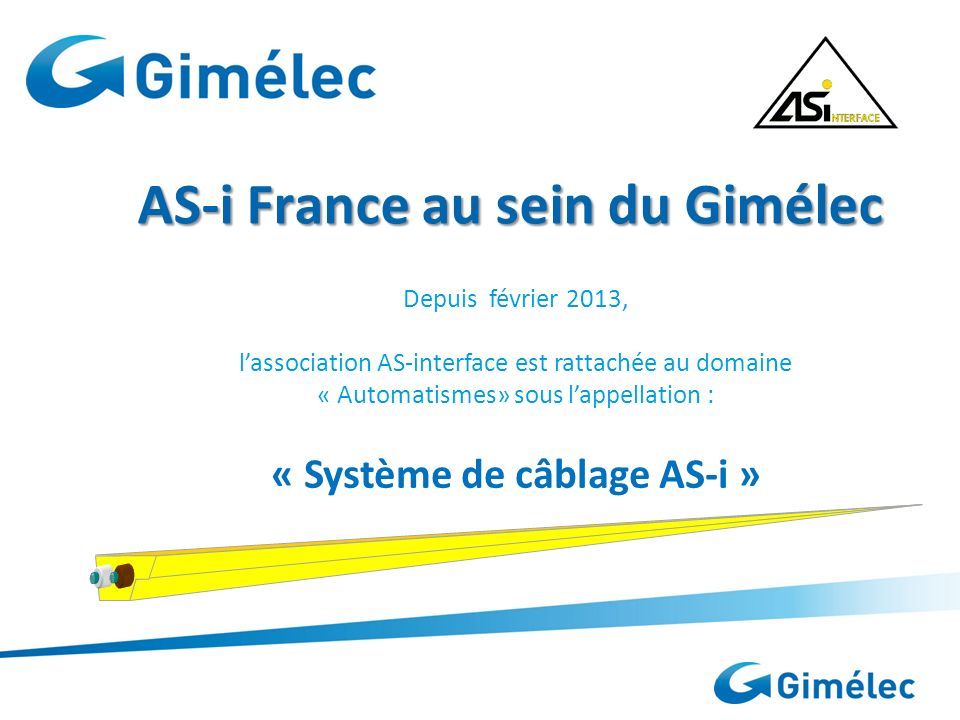 AS-i France au sein du Gimélec
