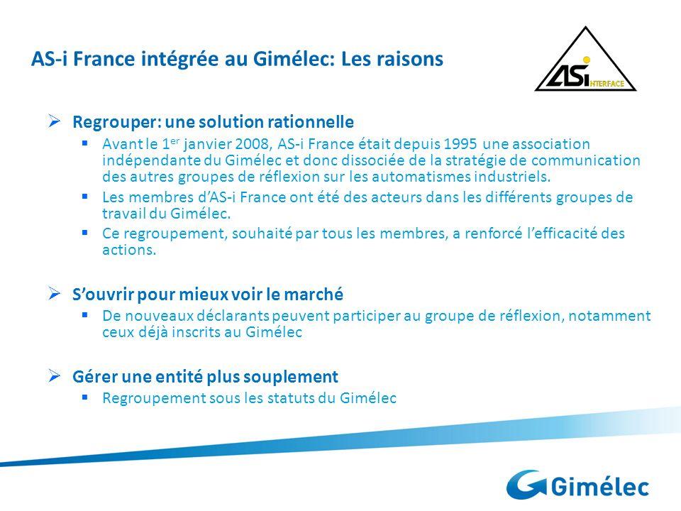 AS-i France intégrée au Gimélec: Les raisons