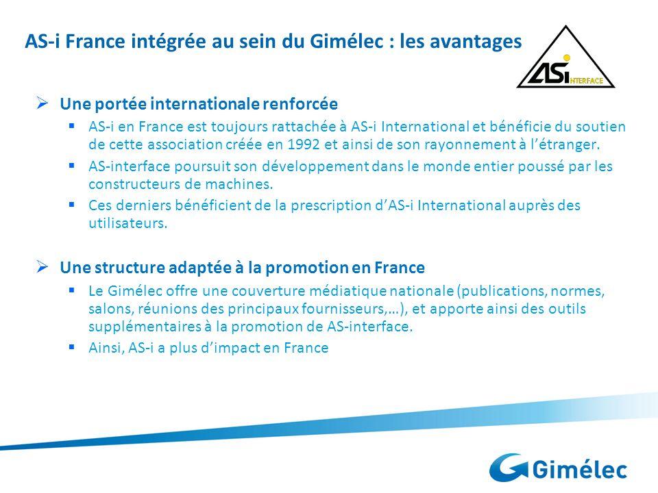 AS-i France intégrée au sein du Gimélec : les avantages