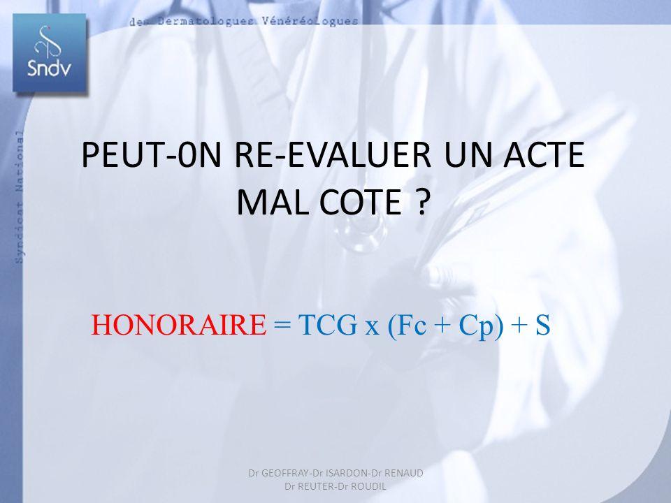 PEUT-0N RE-EVALUER UN ACTE MAL COTE