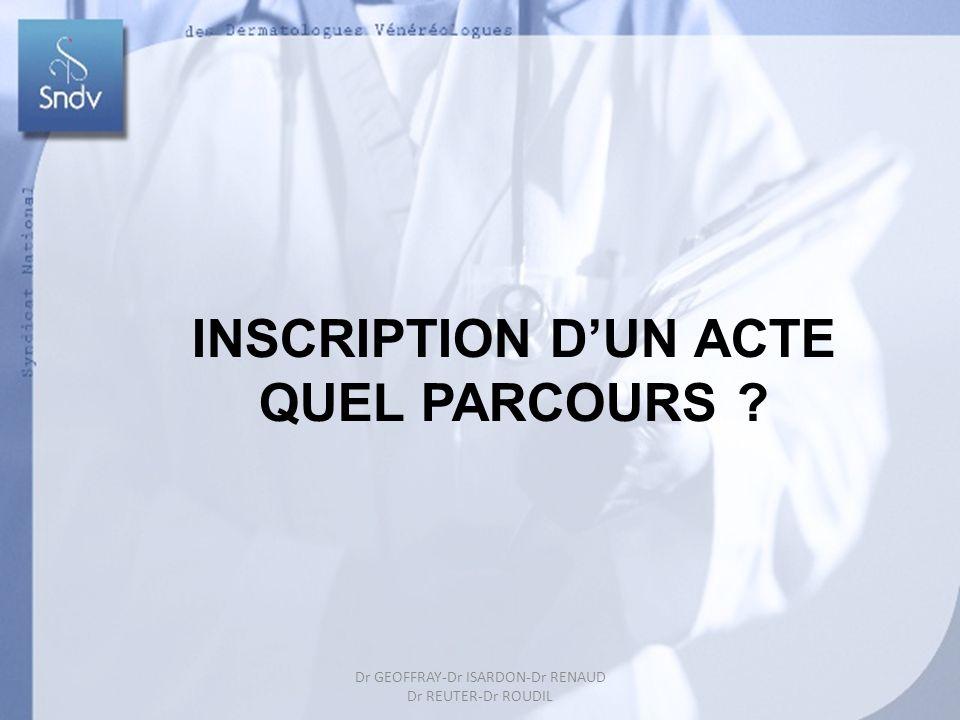 INSCRIPTION D'UN ACTE QUEL PARCOURS