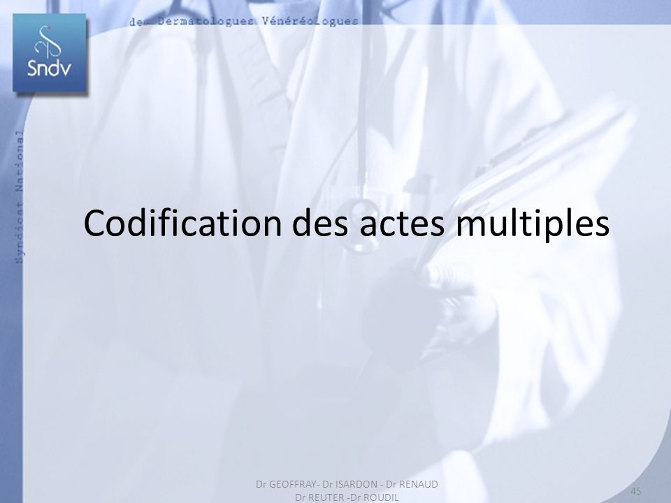 Codification des actes multiples