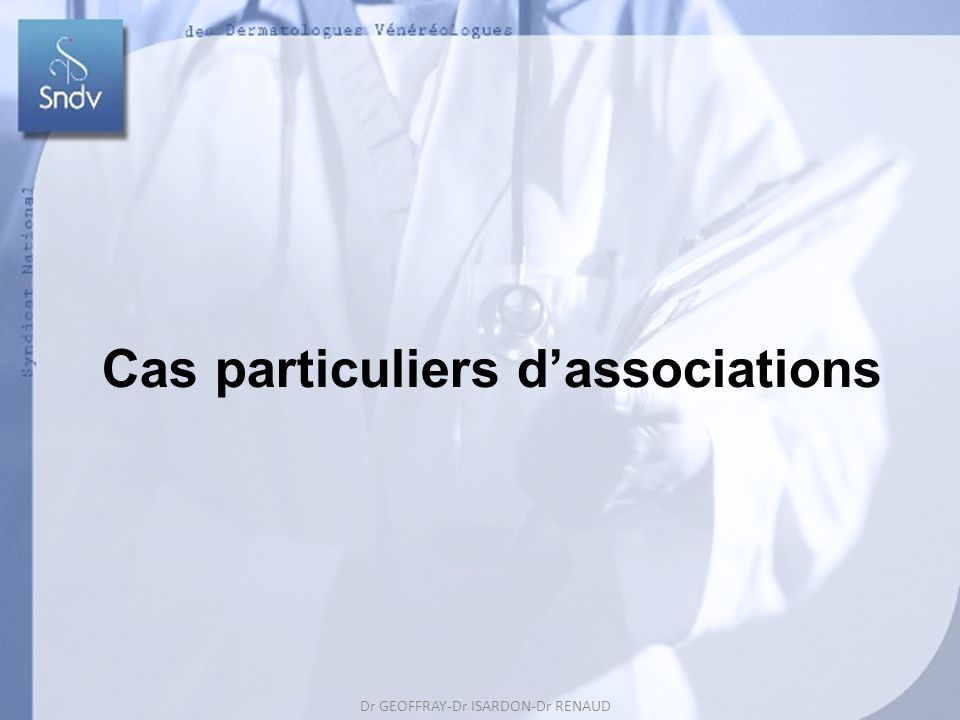 Cas particuliers d'associations