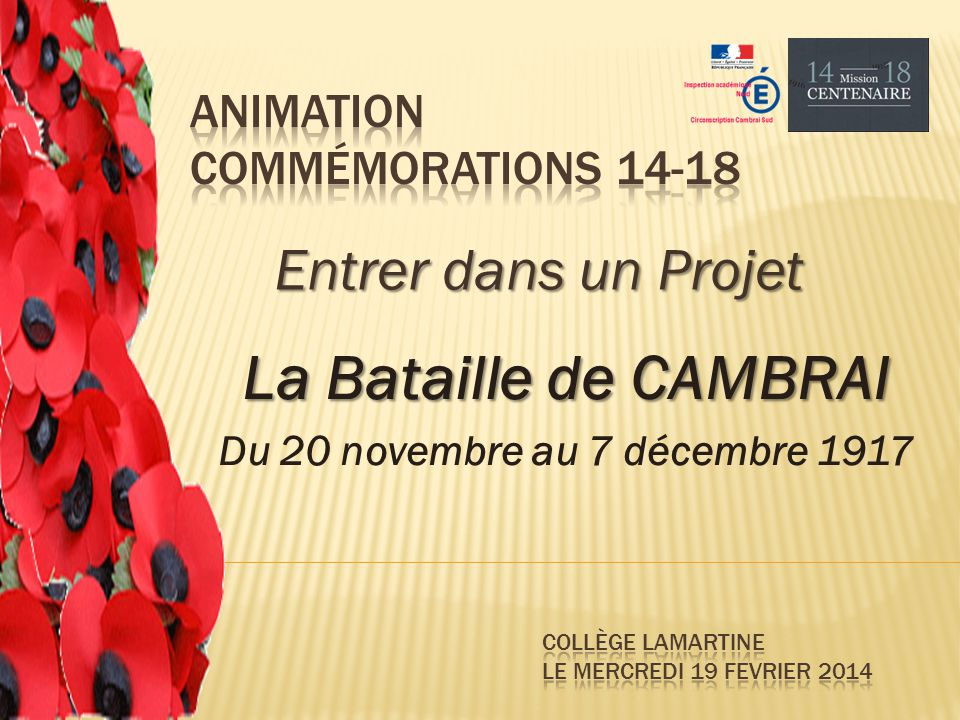 Animation Commémorations 14-18