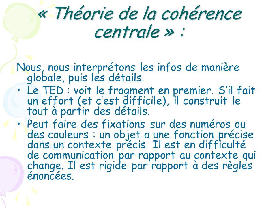 « Théorie de la cohérence centrale » :