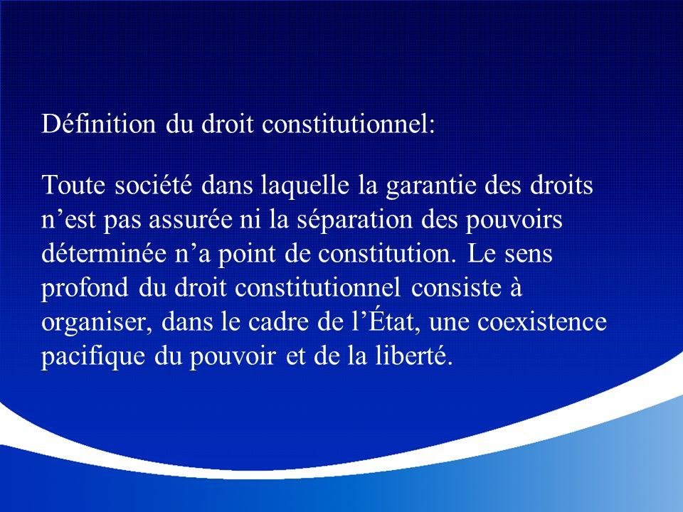 Définition du droit constitutionnel: