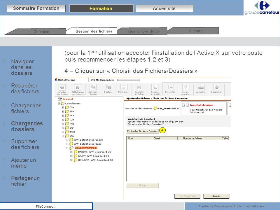 4 – Cliquer sur « Choisir des Fichiers/Dossiers »