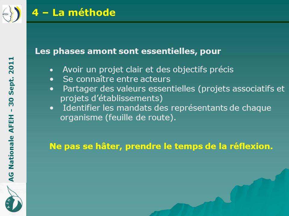 4 – La méthode Les phases amont sont essentielles, pour